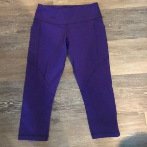 Lululemon purple crop leggings